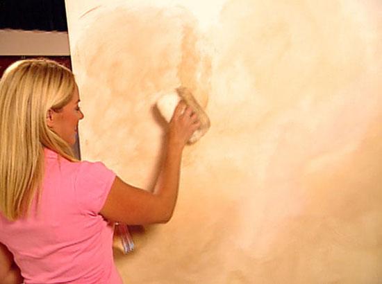 Декоративное окрашивание стен: фото