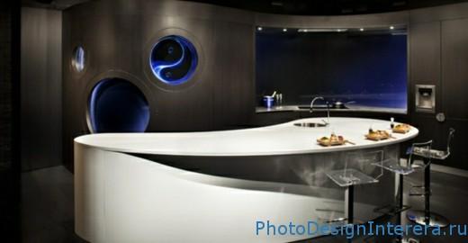 Современный дизайн качественной кухни фото