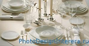 Сервировка стола на кухне фото