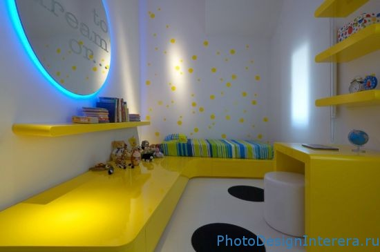 Дизайн интерьера стильной детской комнаты фото