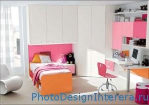 Элегантный дизайн интерьера детской комнаты фото