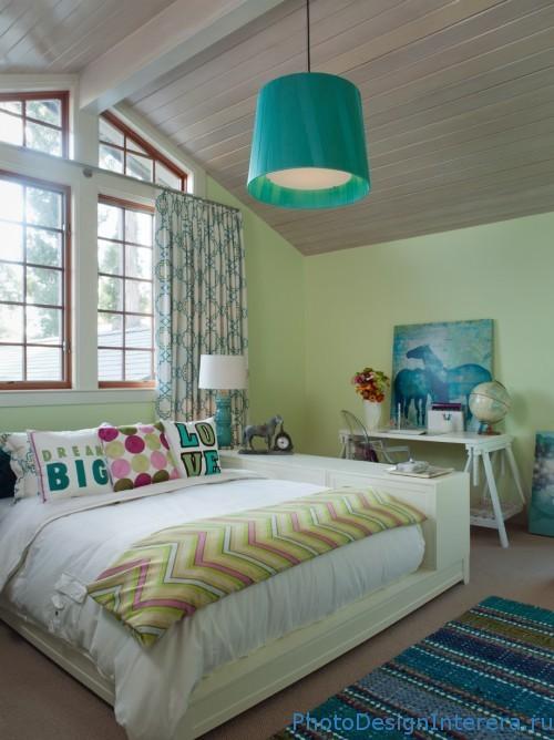 Стильный дизайн детской комнаты на чердаке фото