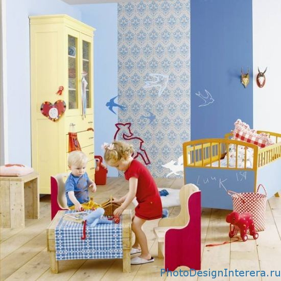 Какой дизайн интерьера в детской комнате создать?
