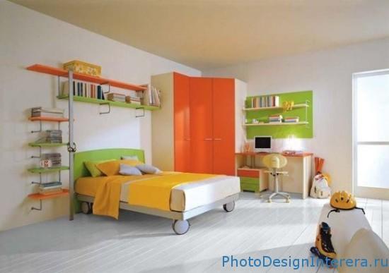 Яркий дизайн детской комнаты