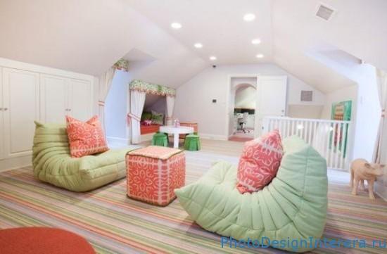 Дизайн интерьера красивой детской комнаты фото