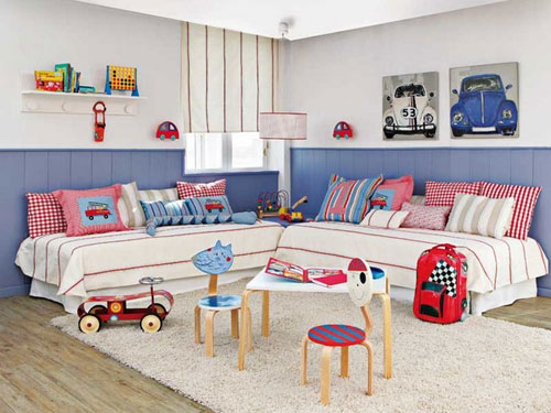 Дизайн детской комнаты для двоих детей: интересная задача