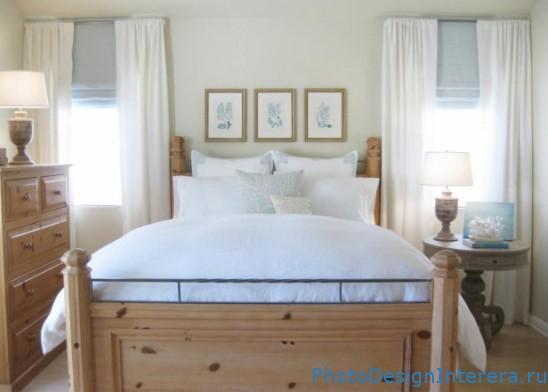 Дизайн спальни с деревянной кроватью фото
