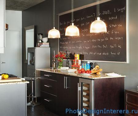 Школьная доска на кухне фото