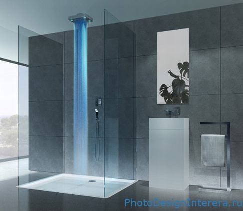 Фотографии дизайна ванной комнаты с душевой кабиной