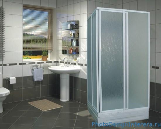 Проект ванной комнаты с душевой кабиной фото