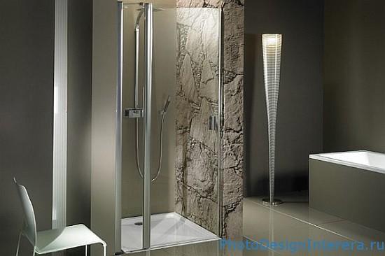 Интересный дизайн ванной комнаты с душевой кабиной фото