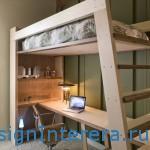 Двухъярусная кровать чердак - идеальное решение для маленькой квартиры