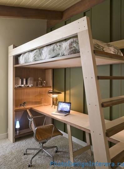Двухъярусная кровать чердак— идеальное решение для маленькой квартиры