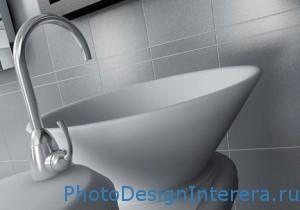 Современная раковина для ванной комнаты фото