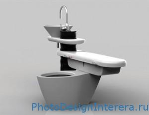 Современная компактная маленькая ванная комната фото