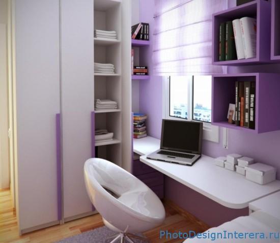 Фиолетовый цвет в интерьере комнат фото