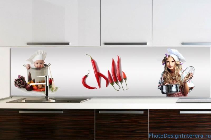 Элегантные и Стильные фартуки для кухни из фото стекла