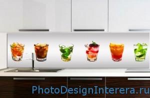 Фартуки для кухни из фото стекла