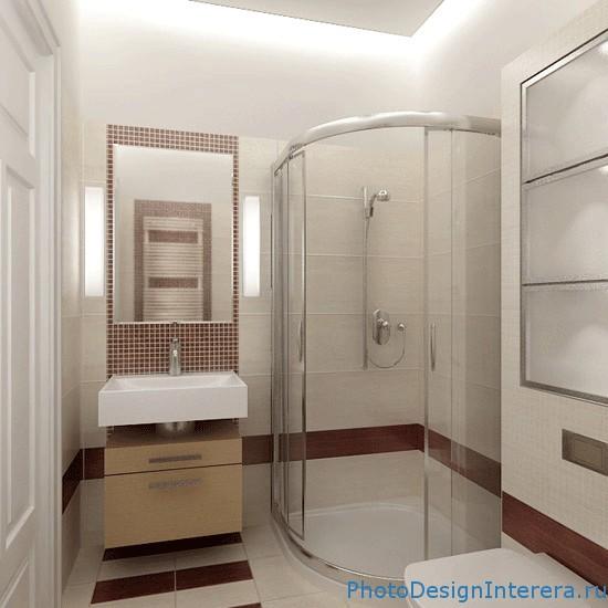 Дизайн интерьера маленьких ванных