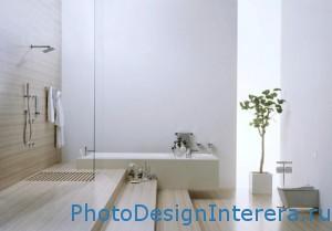 Дизайн интерьера ванной комнаты с