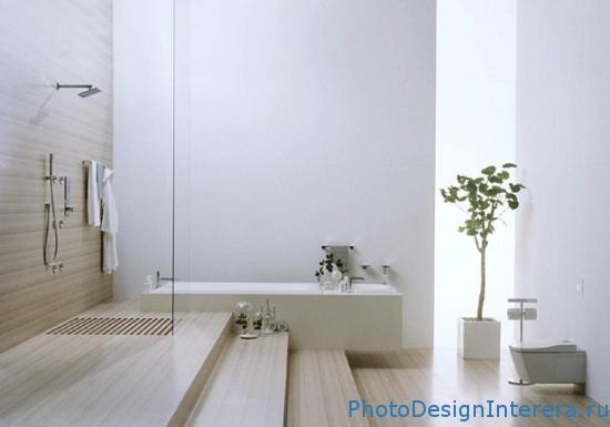 Дизайн интерьера ванной комнаты с душевой кабиной фото