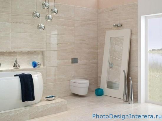 Удобная ванная комната. Дизайн интерьера ванной комнаты фото