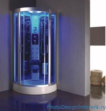 Душевая кабина и гидробокс в ванной комнате фото
