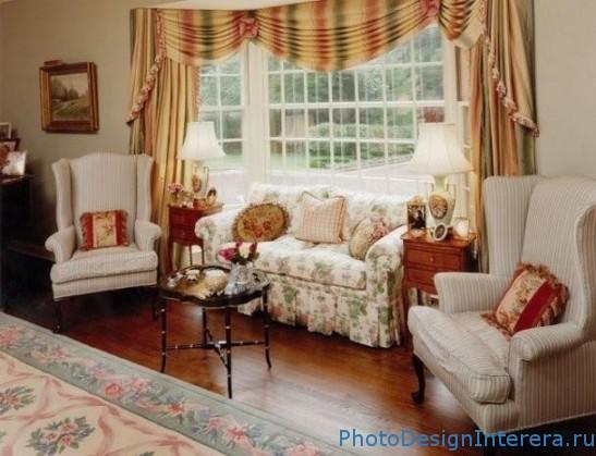Интерьер гостиной в английском стиле фото