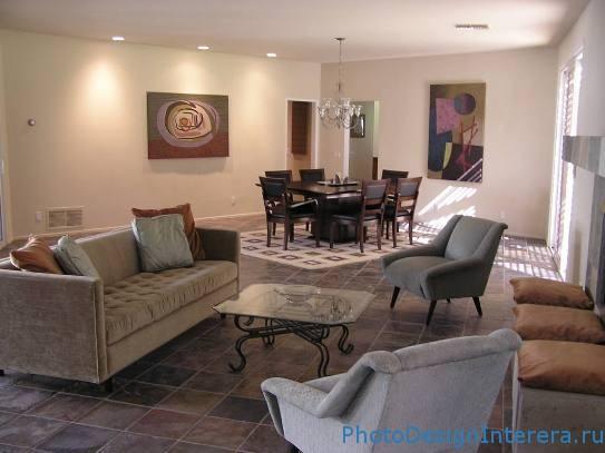 Современная гостиная в классическом стиле фото