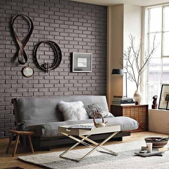 Интерьер с кирпичной стеной: стильный, запоминающийся, эффектный
