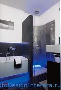 Красивая душевая кабина в ванной комнате фото с подсветкой