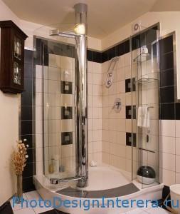 Современная душевая кабина в ванной комнате фото