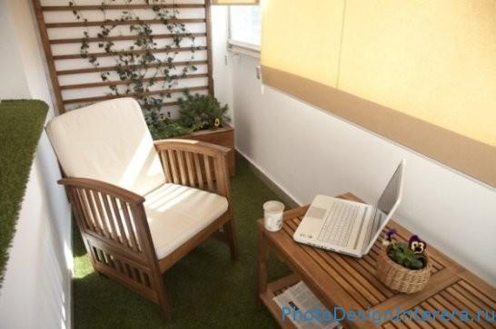 Дизайн кабинета на балконе фото