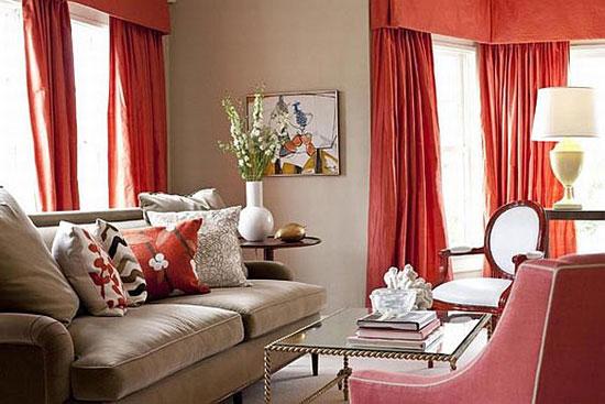 Как использовать персиковый цвет в интерьере гостиной, кухни, спальни