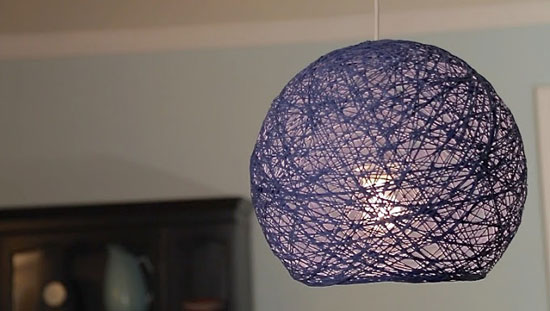 Как сделать абажур для светильника своими руками? Абажур-шар из ниток - мастер-класс