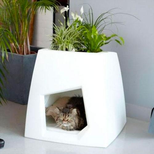 Как сделать домик для кошки своими руками: фото