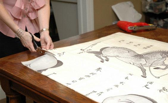 Как сделать картину из ткани своими руками