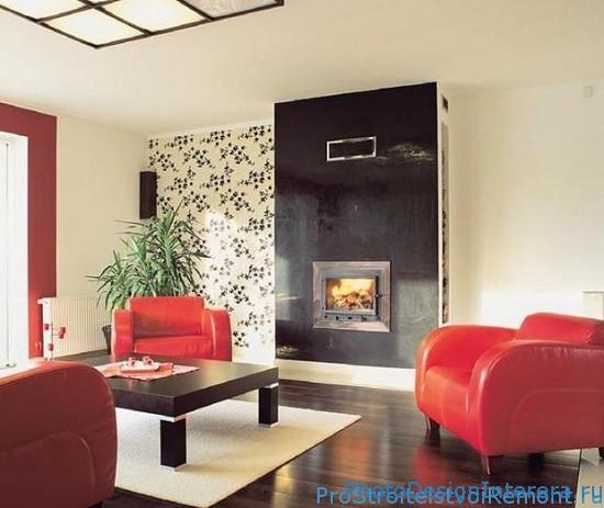 Дизайн гостиной с камином фото