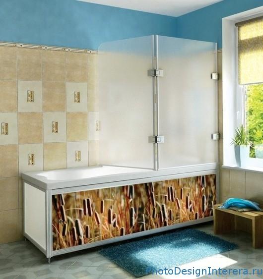 Экран для ванны Фотографии дизайна интерьера