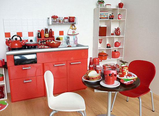 Красно-белый интерьер: фото