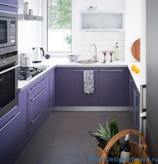 Кухня в сиреневом цвете фото