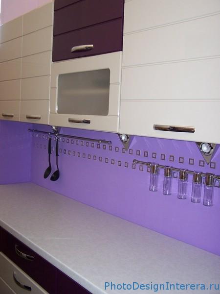 Дизайн кухни сиреневого цвета фото