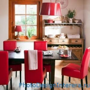 Дизайна интерьера кухни со столовой