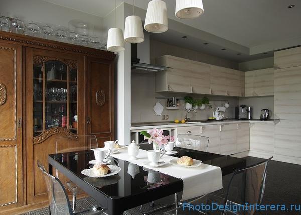 Кухня со столовой дизайн интерьера фото