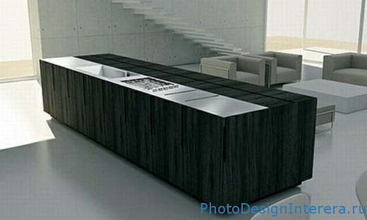 Дизайн интерьера стильной маленькой кухни фото