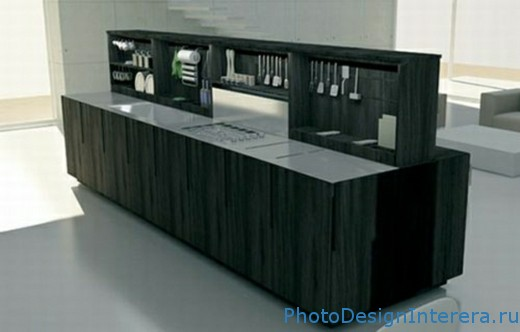 Современный дизайн изысканной кухни фото