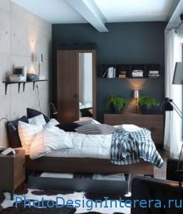 Дизайн современной маленькой спальни с мебелью фото
