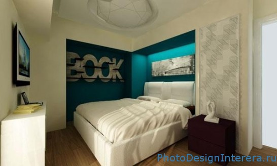 Современный дизайн маленькой спальни