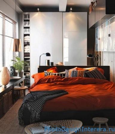 Красивый дизайн маленькой спальни и мебель фото