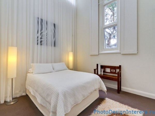 Дизайн комнат с белыми шторами